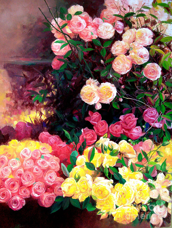 Flower Painting - Blooming by Bo Li