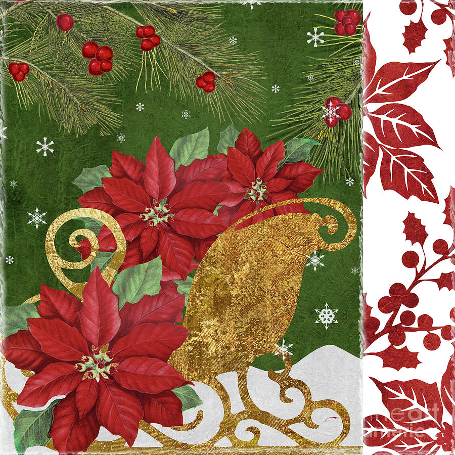 Christmas Painting - Blooming Christmas I by Mindy Sommers