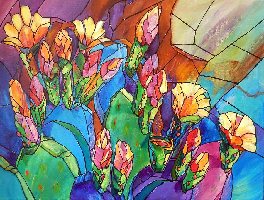 Bold Painting - Blooming Desert by Judi Krew