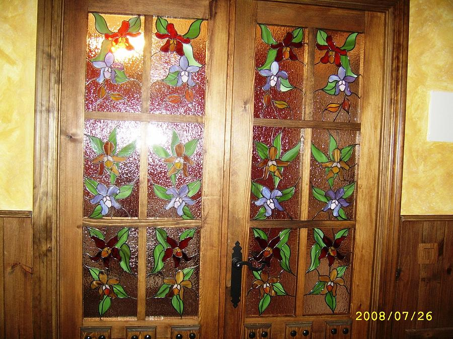 Orquideas Glass Art - Blooming Doors by Justyna Pastuszka