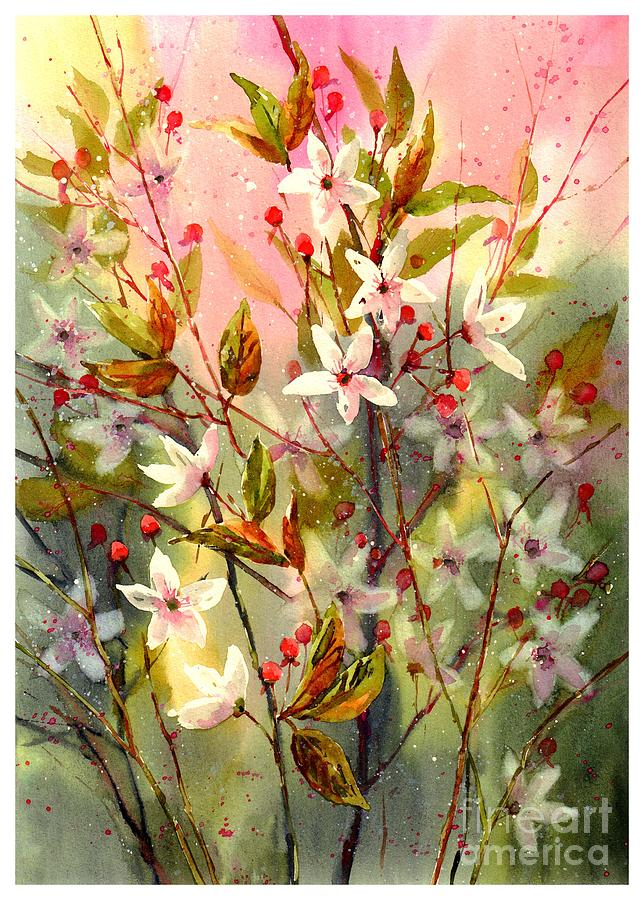 Red Painting - Blooming Magical Gardens I by Suzann Sines