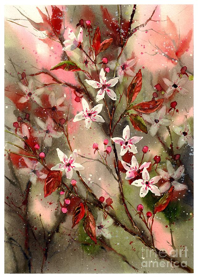 Red Painting - Blooming Magical Gardens by Suzann Sines