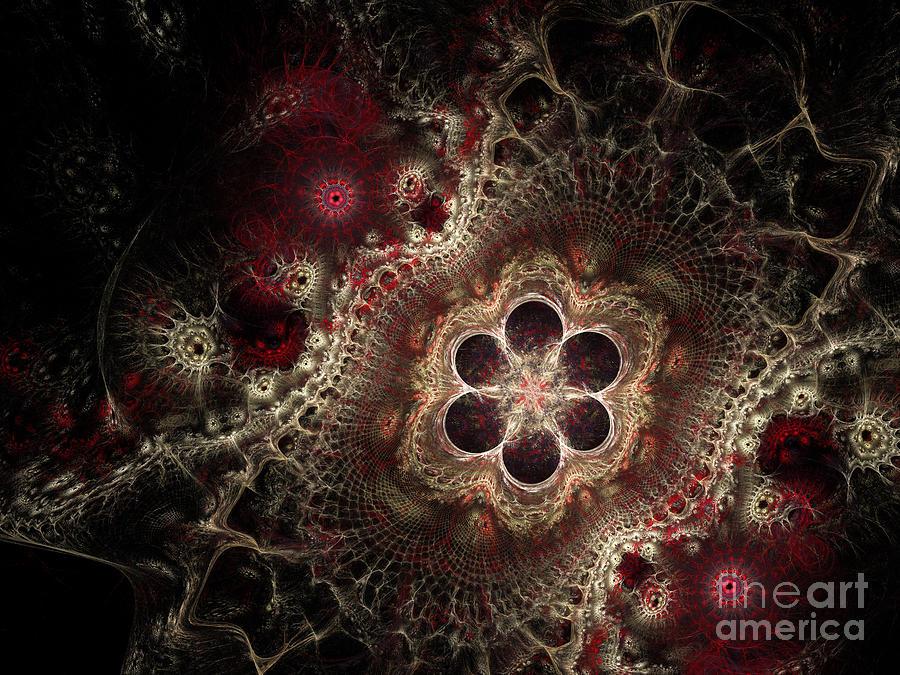Fraktal Digital Art - Blooming World II by Sandra Hoefer