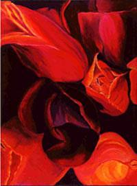 Flower Painting - Blooms I by Glynnis Sorrentino