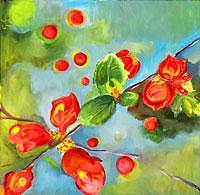 Floral Painting - Blooms Series II - Berries by Glynnis Sorrentino