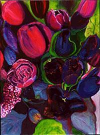 Flowers Painting - Blooms Series II -tulips by Glynnis Sorrentino