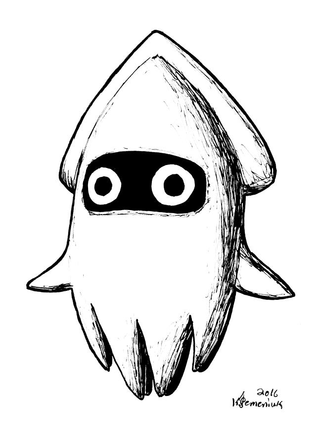 Squid Drawing - Blooper by Kayleigh Semeniuk