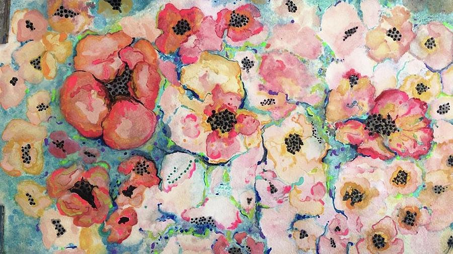 Flowers Painting - Blossems by Susan Main