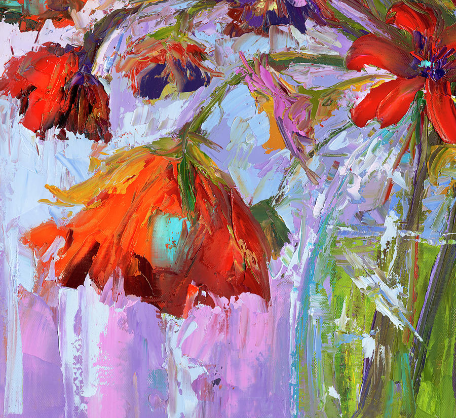 Blossom Dreams in a Vase Oil Painting, Floral Still Life by Patricia Awapara