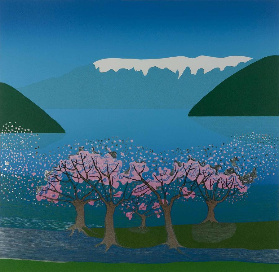 Landscape Mixed Media - Blossom In The Hardanger Fjord by Jarle Rosseland