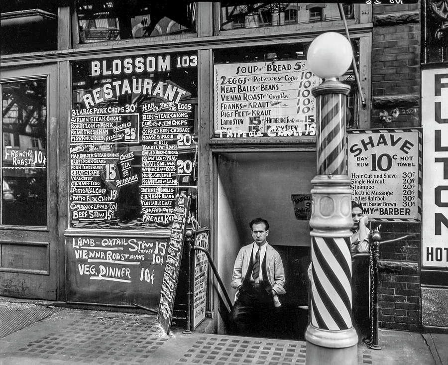 Blossom Restaurant Shave And Hair Cut Next Door Photograph By Gene