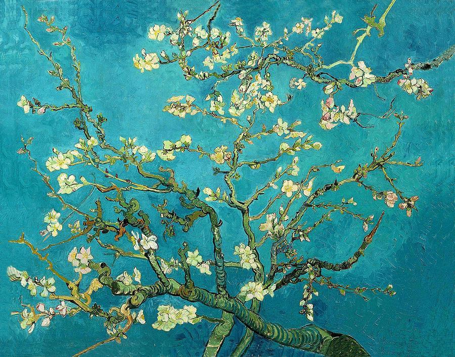 Van Gogh Painting - Blossoming Almond Tree by Van Gogh
