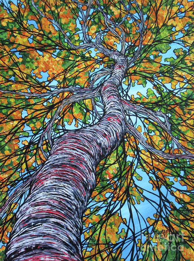 Blossoming Birch Tree by Tracy Levesque