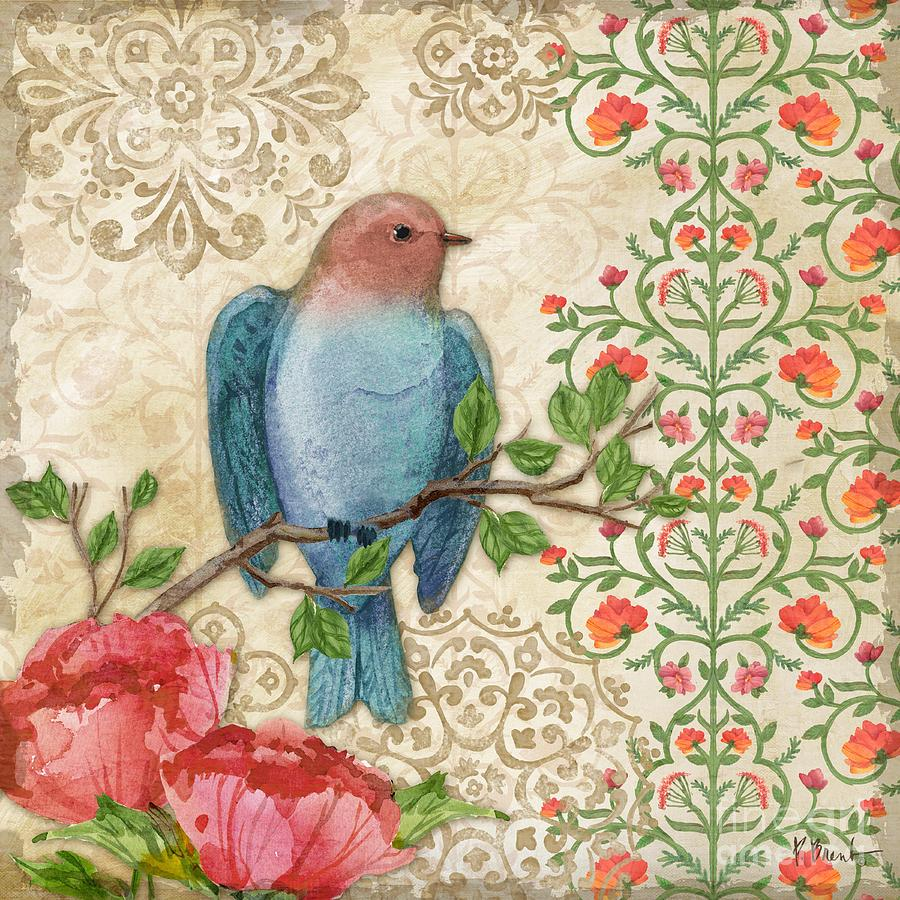 Bird Painting - Blossoming Birds IIi by Paul Brent