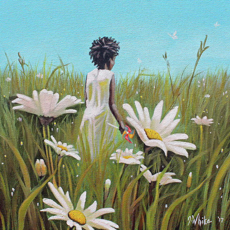 African American Painting - Blossoming Flower by Jerome White