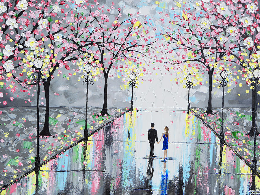 Giclee Painting - Blossoming Romance by Christine Bell