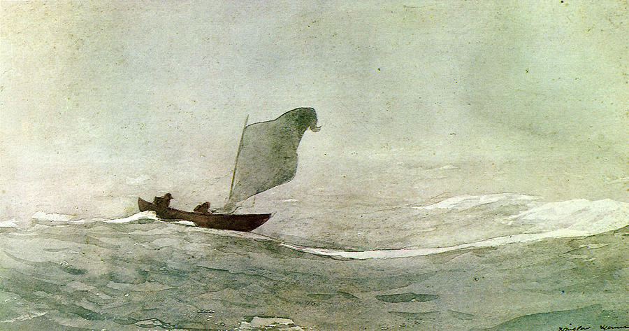 Winslow Homer Digital Art - Blowen Away by Winslow Homer