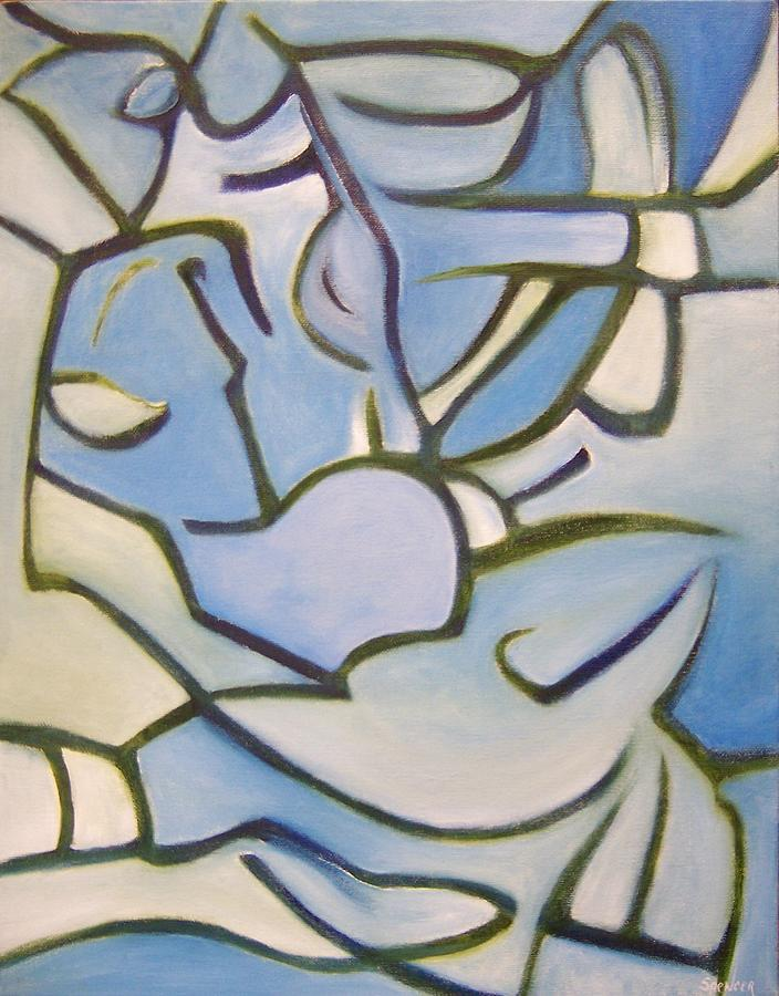 Blowfish Painting by Scott Spencer
