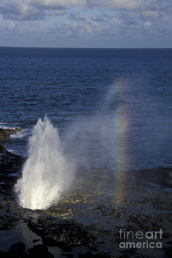 Hawaii Photograph - Blowhole At Poipu by Stan and Anne Foster