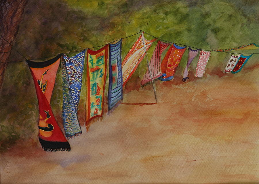Sari Painting - Blowin In The Wind by Ruth Kamenev