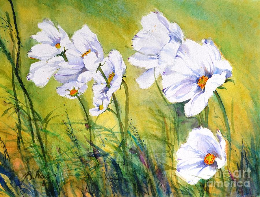 Florals Painting - Blowing In The Wind by Betty M M Wong
