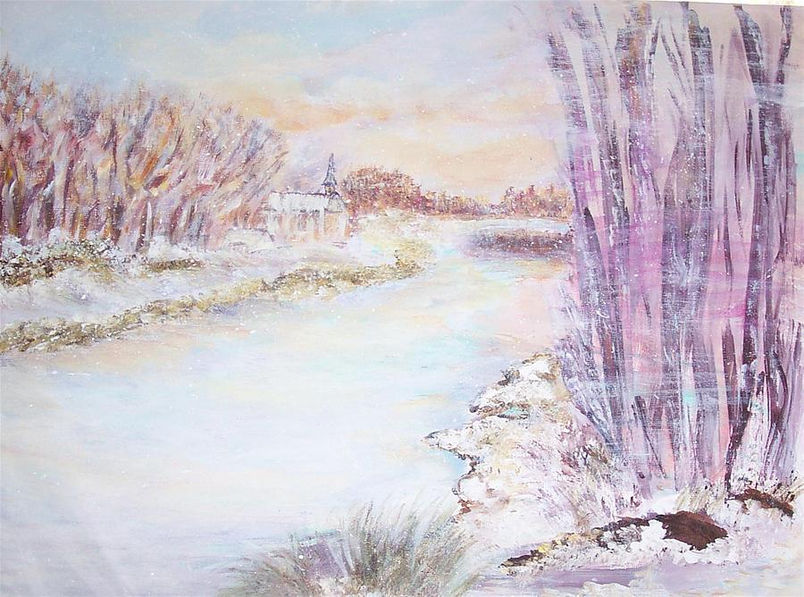 Landscape Painting - Blowing by Mary Sedici