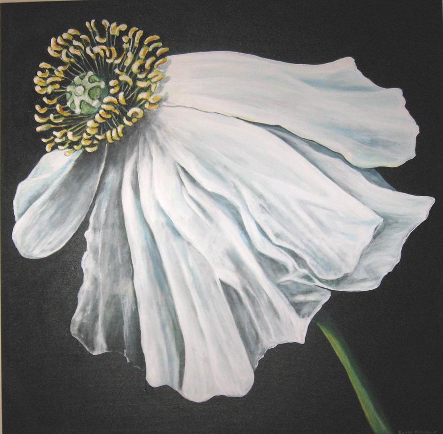 Poppy Painting - Blown in the Wind by Eileen Kasprick