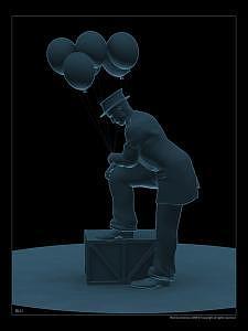 Poser Digital Art - Blu by Rod Duchaineau