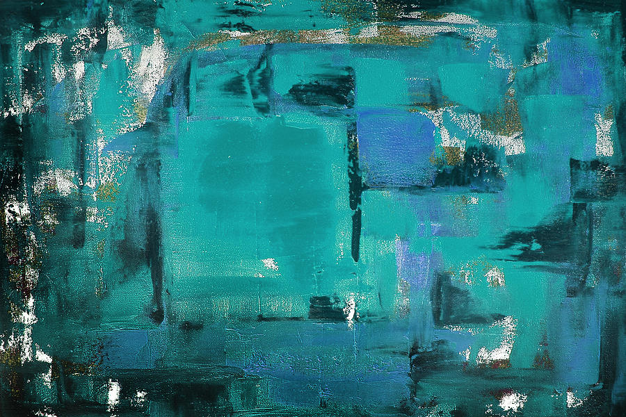 Abstract Painting - Blue Abstract by Gina De Gorna