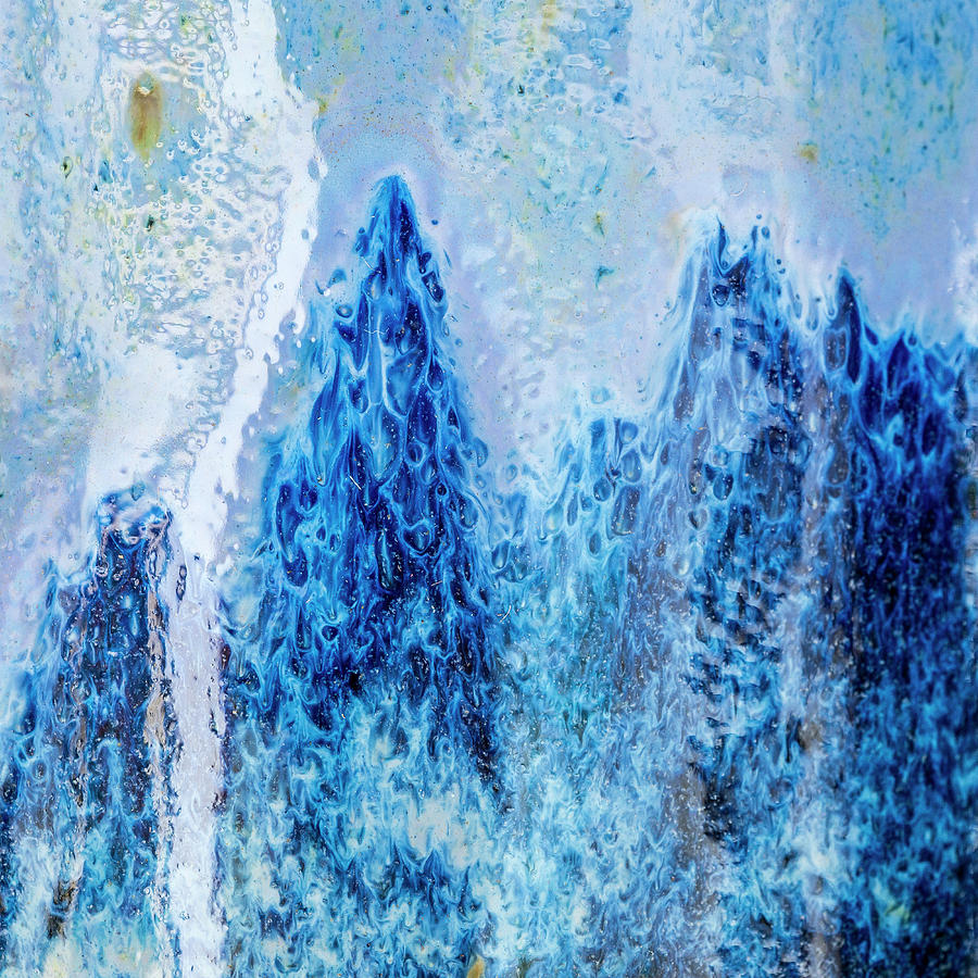 Blue Abstract Two by David Waldrop
