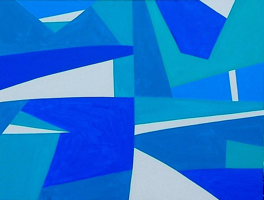 Abstract Painting - Blue Alet by Dick Sauer