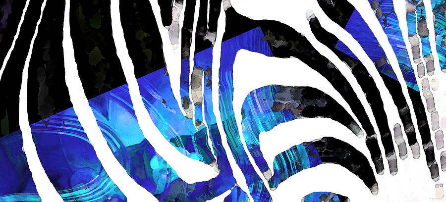Blue Black Abstract Art