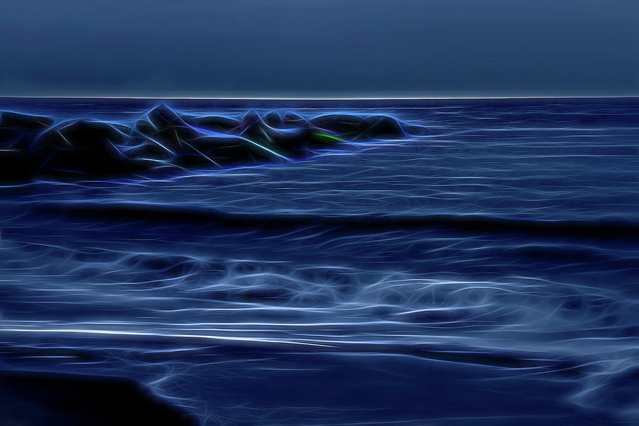 Blue Photograph - Blue And Black by Zev Steinhardt