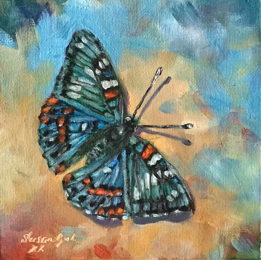 Blue and green Butterfly by Susan Goh