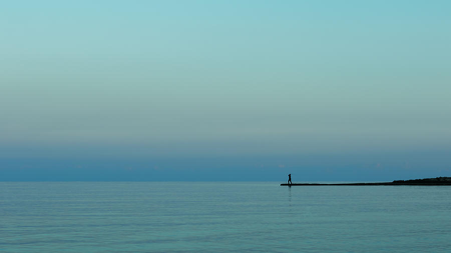 Fishing Photograph - Blue And Peaceful by Stelios Kleanthous