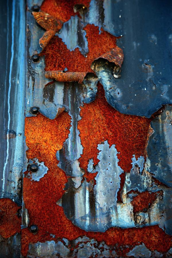 Rust Photograph - Blue And Rust by Karol Livote