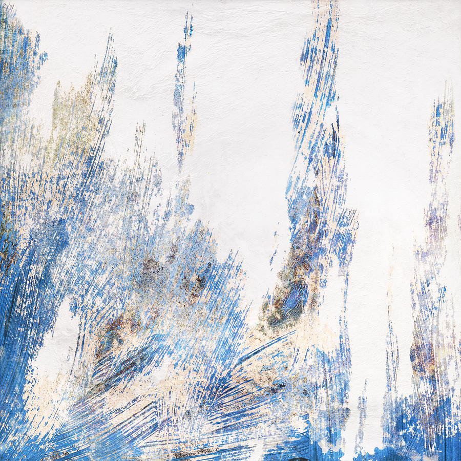 Blue Painting - Blue And White Art - Ice Castles - Sharon Cummings by Sharon Cummings