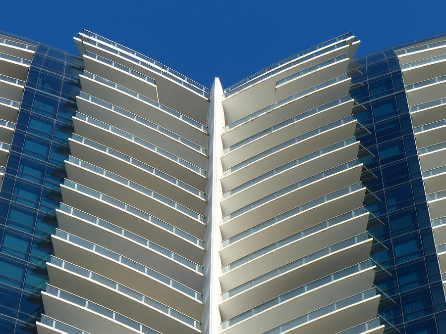 Architecture Photograph - Blue And White by Carlos Amaro