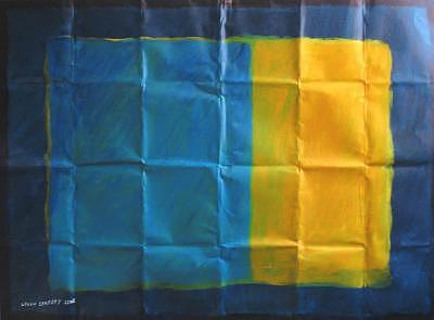 Abstract Painting - Blue And Yellow by Lavih Serfaty