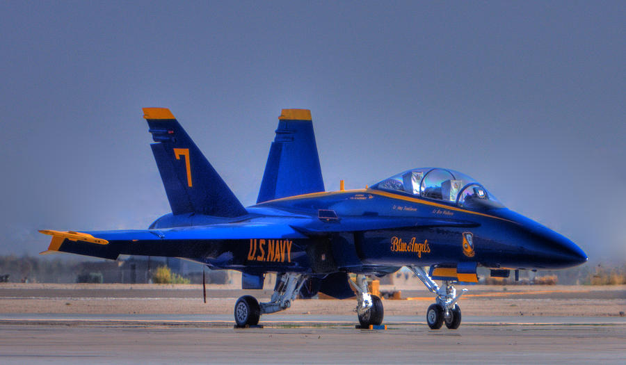 Blue Angels Photograph - Blue Angel Number 7 by Paul Owen