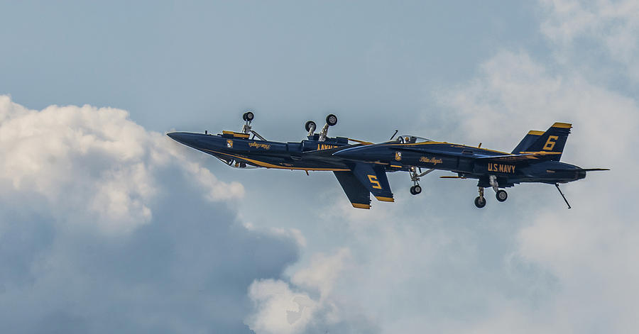 Blue Angels Inverted Pass Photograph by Robert Hayes