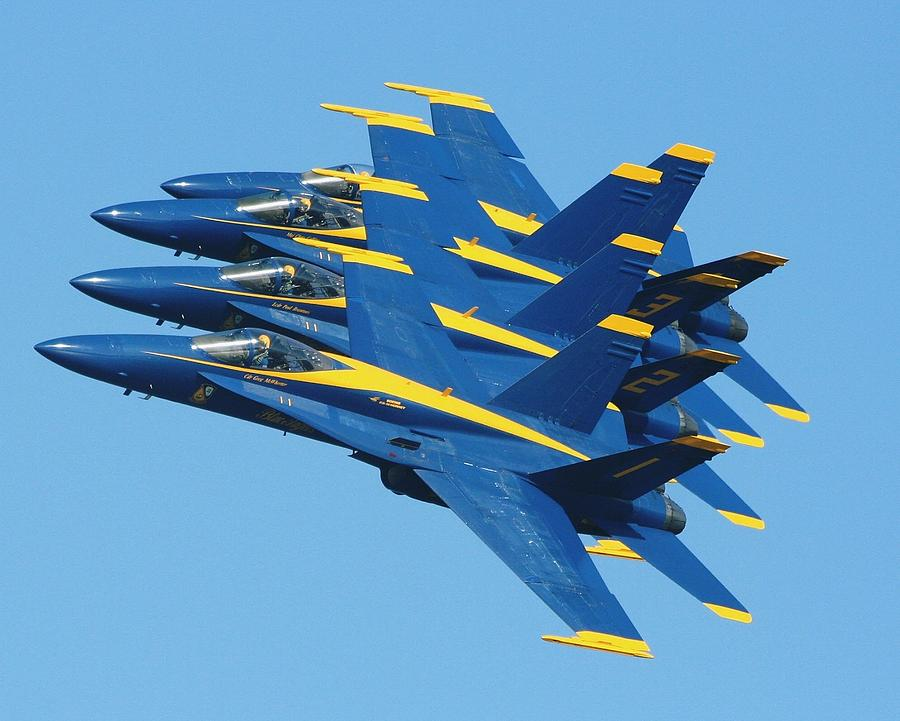 Jets Photograph - Blue Angels by Melanie Beasley