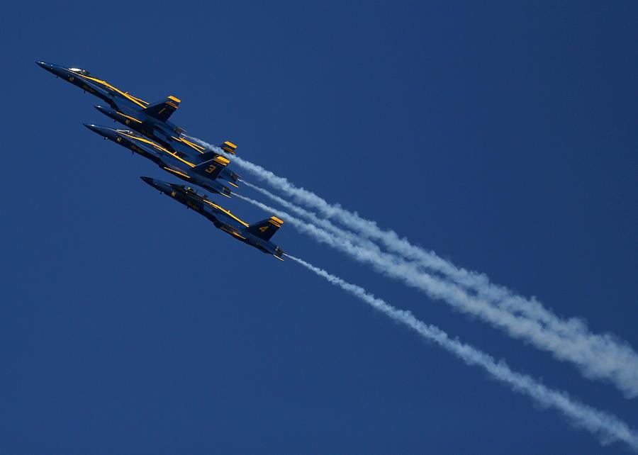 Blue Angels Over San Francisco Bay Photograph by John King