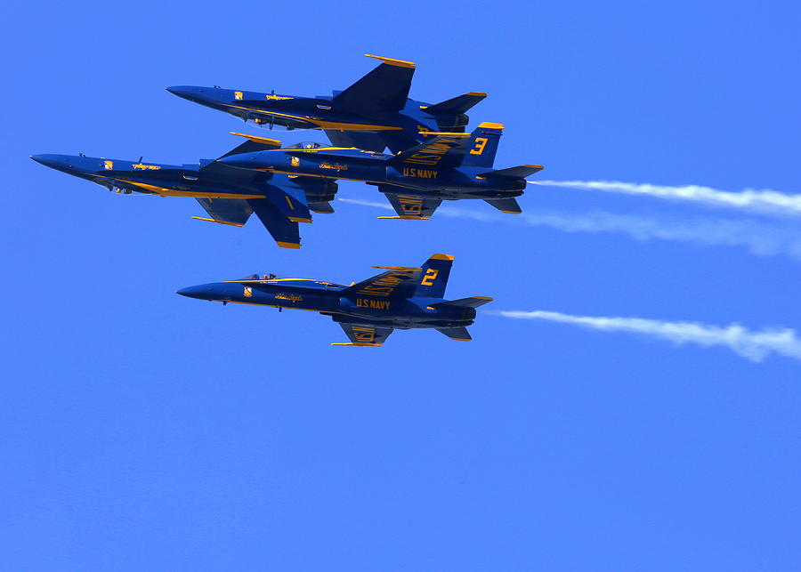 Blue Angels Perform Over San Francisco Bay Photograph by John King