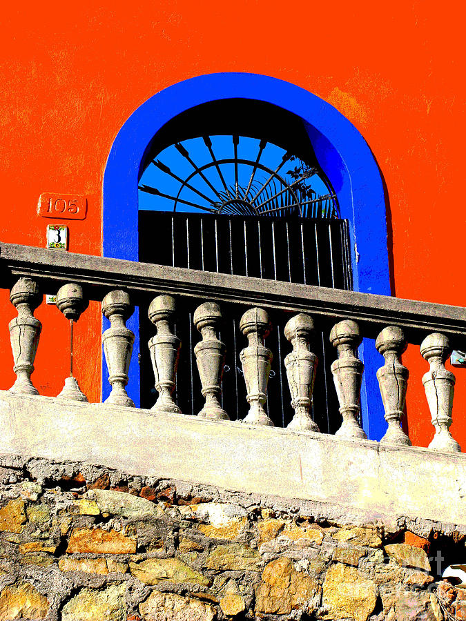 Michael Fitzpatrick Photograph - Blue Arch 1 By Michael Fitzpatrick by Mexicolors Art Photography