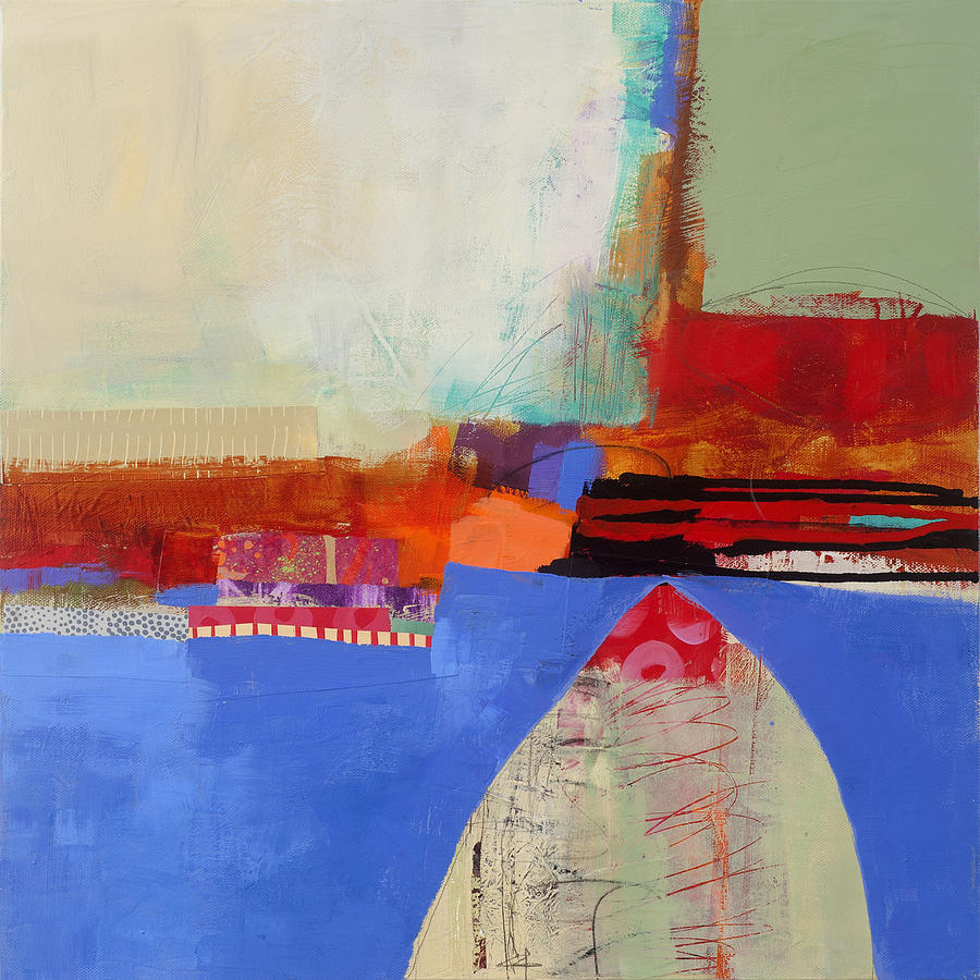 Color Painting - Blue Arch by Jane Davies