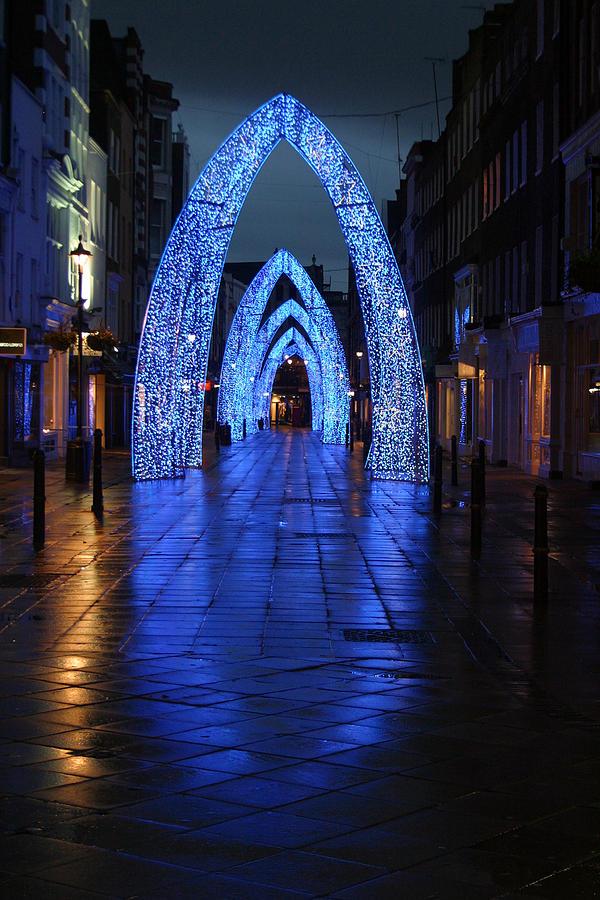 London Photograph - Blue Arch by Jez C Self