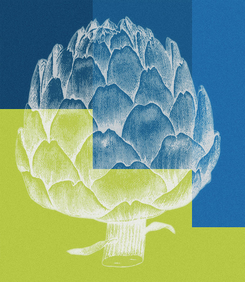 Blue Artichoke Painting
