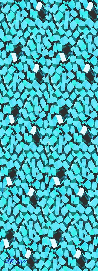 Blue Digital Art - Blue Avalanche by Steamy Raimon
