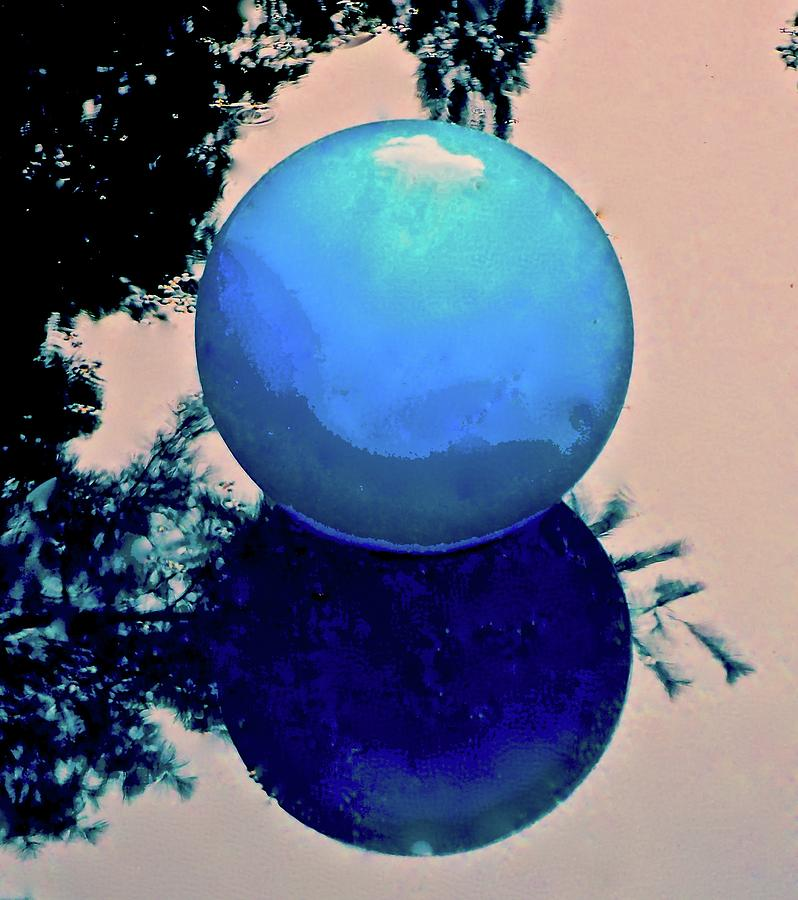 Blue Ball 2 Photograph by Alida M Haslett